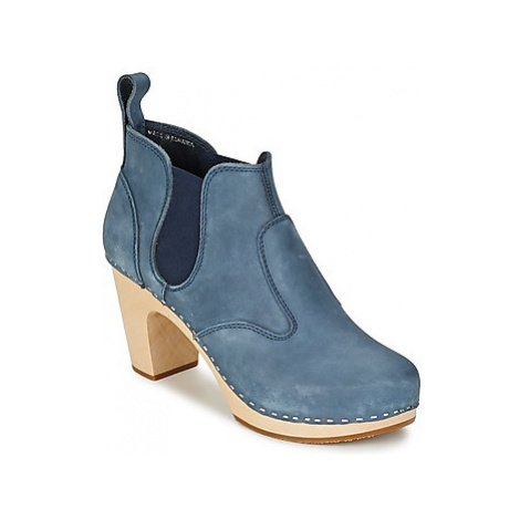 Swedish hasbeens OPERA BOOTIE women's Low Boots in Blue