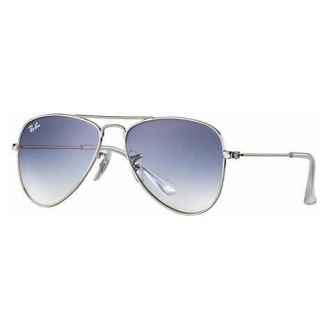 Ray Ban Aviator junior Unisex Sunglasses Lenses: Blue, Frame: Silver - RJ9506S 212/19 52-14
