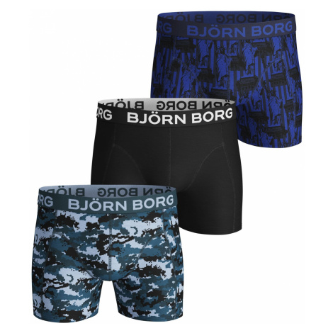 SILHOUETTE & STATUE OF LIBERTY COTTON STRETCH SHORTS 3-PACK Corsair