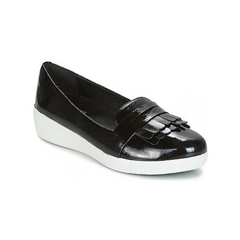 FitFlop Fringey Sneakerloafer women's Shoes (Pumps / Ballerinas) in Black