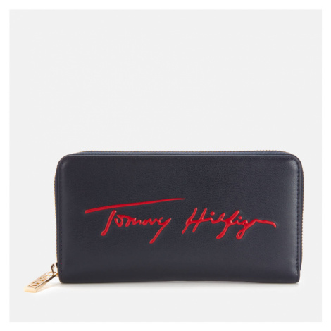 Tommy Hilfiger Women's Iconic Large Zip Around Wallet - Sky Captain