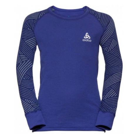 Odlo BL TOP CREW NECK L/S ACTIVE WARM TREND K purple - Children's T-shirt