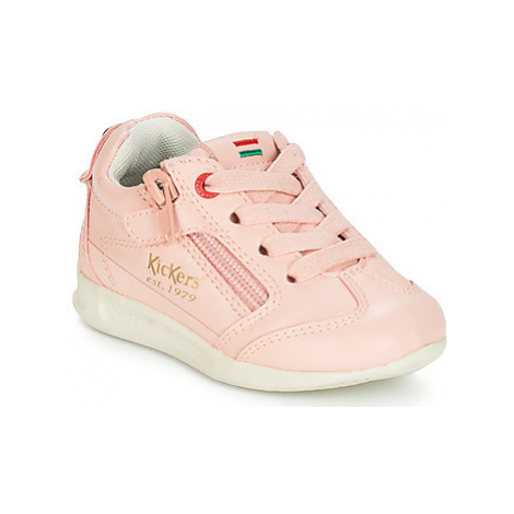 Kickers KICK 18 BB girls's Children's Shoes (Trainers) in Pink
