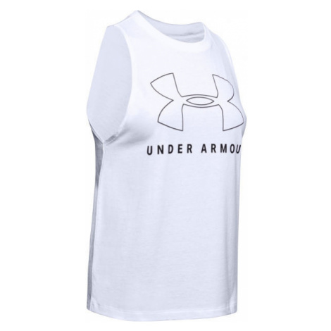 Under Armour SPORTSTYLE GRAPHIC MUSCLE SL white - Women's tank top