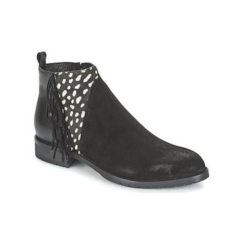 Meline VELOURS NERO PLUME NERO women's Mid Boots in Black