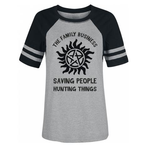 Supernatural - Family - Girls shirt - mixed grey-black