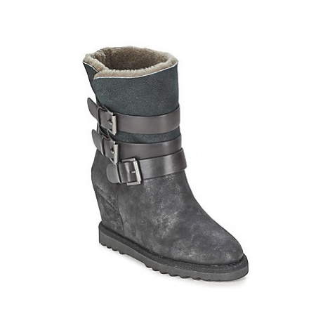 Ash YES women's Low Ankle Boots in Black