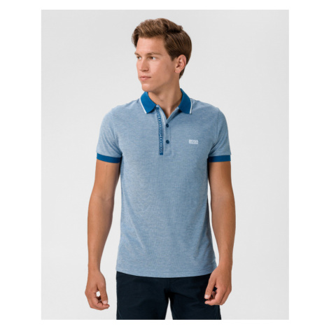 BOSS Paule 4 Polo Shirt Blue Hugo Boss