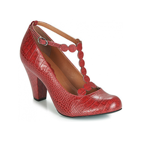 Cristofoli CROCO IMPERADOR PHILLY women's Court Shoes in Red Cristófoli