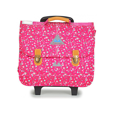 Poids Plume FLEURY TROLLEY CARTABLE 41 CM girls's Briefcase in Pink