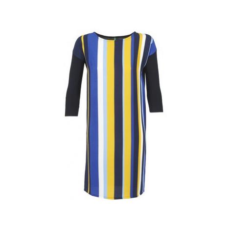 Benetton VAGODA women's Dress in Blue United Colors of Benetton