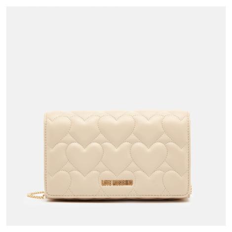 Love Moschino Women's Heart Quilt Chain Bag - Ivory