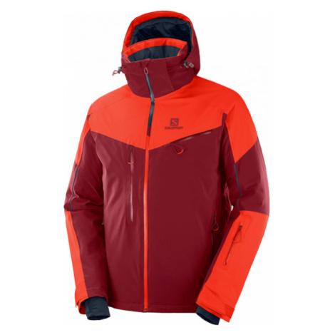 Salomon ICESPEED JKT M orange - Men's ski jacket
