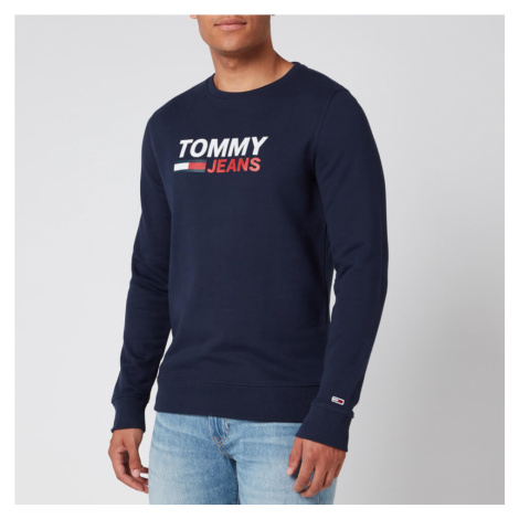 Tommy Jeans Men's Corporate Logo Sweatshirt - Twilight Navy Tommy Hilfiger