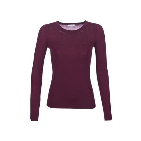 Lacoste AF8728 women's Sweater in Bordeaux