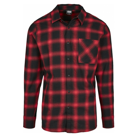 Urban Classics - Oversized Check Shirt - Shirt - black-red