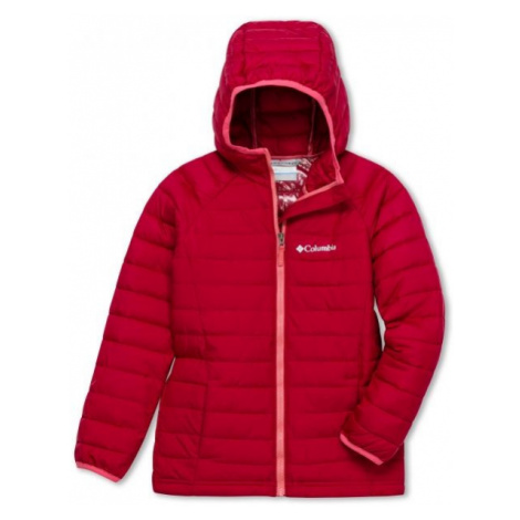 Columbia POWDER LITE GIRLS HOODED JACKET red - Girls' jacket