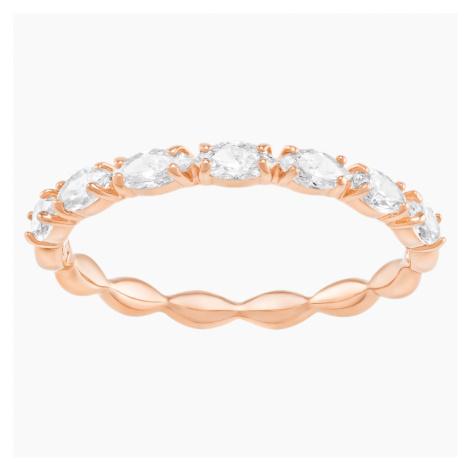Vittore Marquise Ring, White, Rose-gold tone plated Swarovski