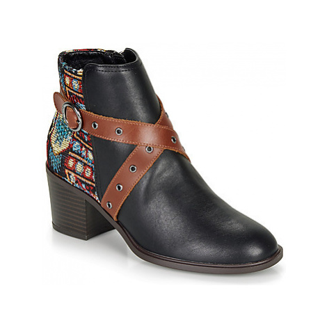 Desigual ALASKA TAPESTRY women's Low Ankle Boots in Black