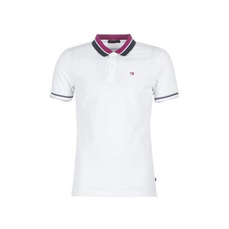 Scotch Soda CLASSIC PIQUE POLO WITH CONTRAST TIPPINGS men's Polo shirt in White Scotch & Soda
