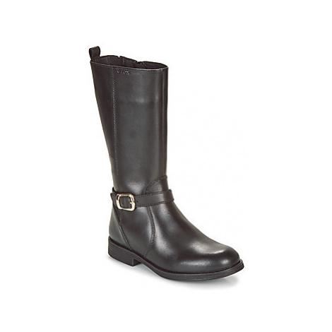 Geox JR AGATA girls's Children's High Boots in Black