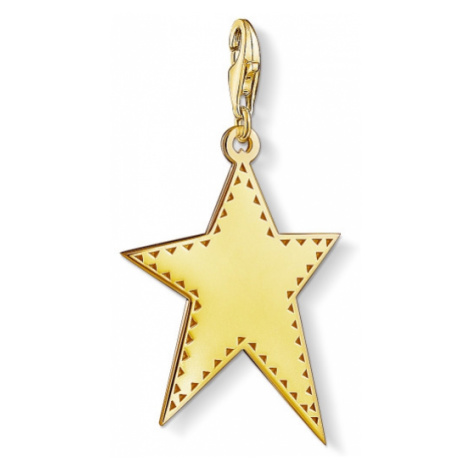 Ladies Thomas Sabo Gold Plated Sterling Silver Charm Club Golden Star Charm Y0040-413-39