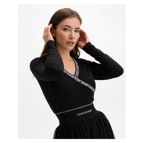 Calvin Klein Organic Cotton Logo Trim Body Black