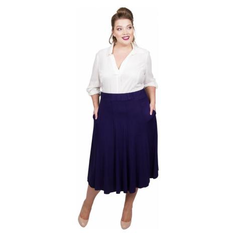 Panelled Jersey Skirt - Midnight Scarlett & Jo