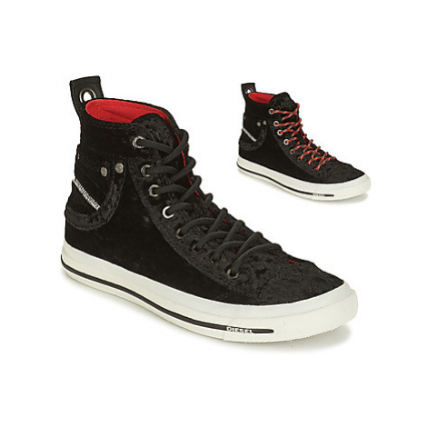 Diesel EXPOSURE IV W women's Shoes (High-top Trainers) in Black