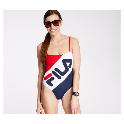 FILA Mei Swimsuit True Red/ Black Iris/ Bright White