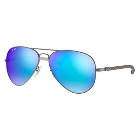 Ray Ban Man RB8317CH CHROMANCE - Frame color: Gunmetal, Lens color: Blue Mirror, Size 58-14/140