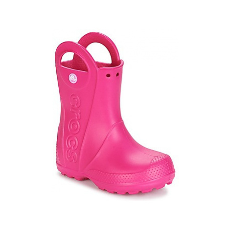 Crocs HANDLE IT RAIN BOOT girls's Children's Wellington Boots in Pink