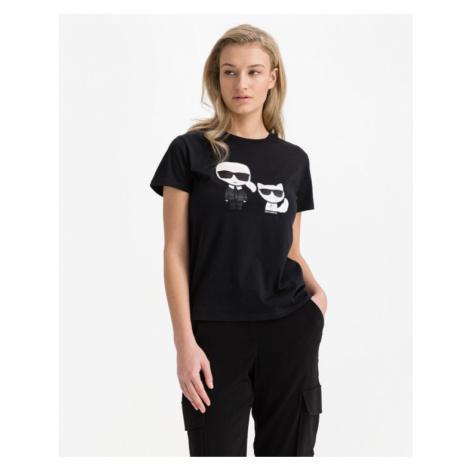 Karl Lagerfeld Ikonik Karl & Choupette T-shirt Black