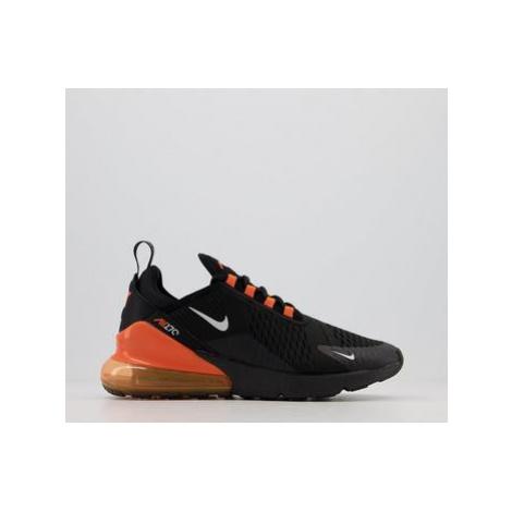 Nike Air Max 270 Trainers BLACK METALLIC SILVER TOTAL ORANGE
