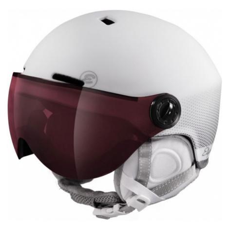 Etape CORTINA PRO white - Women's ski helmet with a visor