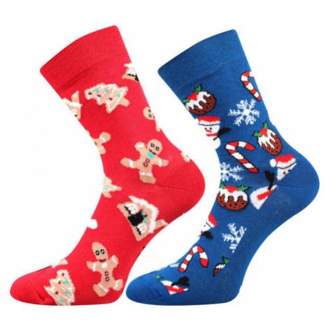 Lonka VÁNOČNÍ SNĚHULÁK 2P - Socks