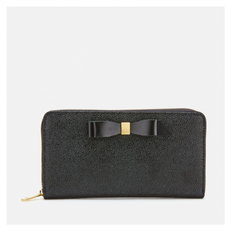 Ted Baker Women's Aine Bow Zip Around Matinee Wallet - Black