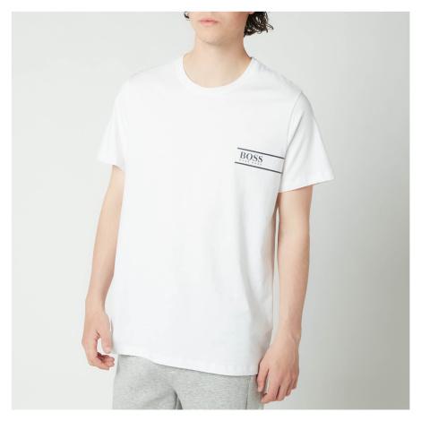 BOSS Bodywear Men's Rn 24 Logo Crewneck T-Shirt - White Hugo Boss