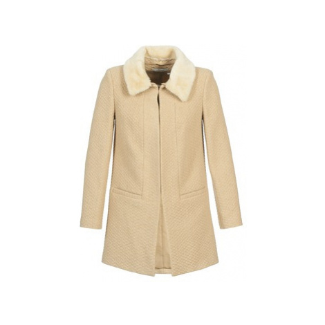Naf Naf ABELGI women's Coat in Beige