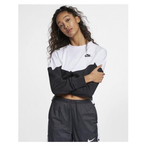 Nike Sportswear Heritage Sweatshirt Black White