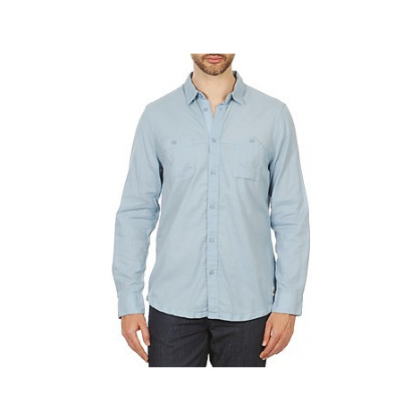 Chevignon PAUL men's Long sleeved Shirt in Blue