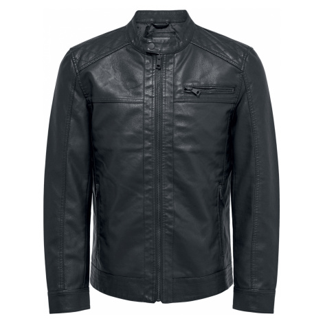 ONLY and SONS - AL Jacket - Imitation leather jacket - black Only & Sons