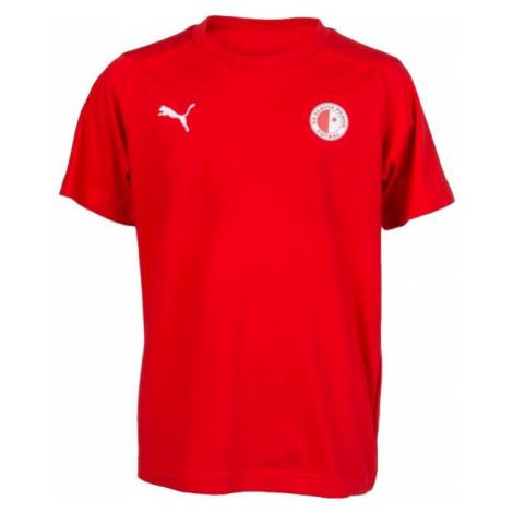Puma LIGA CASUALS TEE JR SLAVIA red - Children's sports T-shirt