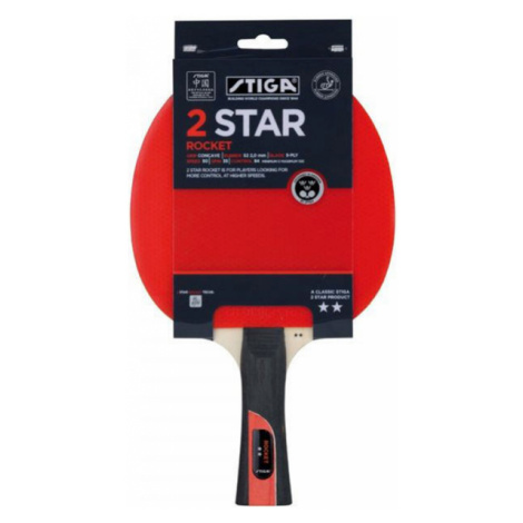 Stiga 2 STAR ROCKET red - Table tennis bat