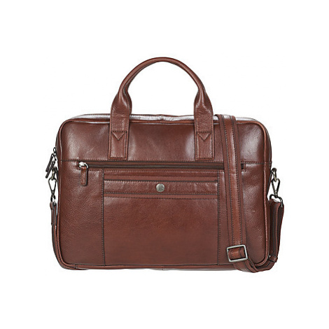 Hexagona LOYALE men's Briefcase in Brown