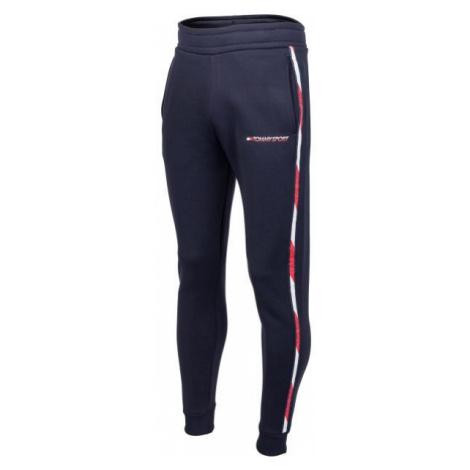 Tommy Hilfiger FLEECE TRACK PANT WITH TAPE dark blue - Men's sweatpants