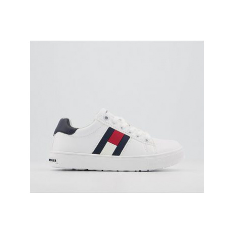 Tommy Hilfiger Tommy Sneaker Youth WHITE BLUE RED FLAG