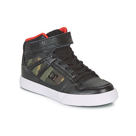 DC Shoes PURE HIGH-TOP SE EV girls's Children's Shoes (High-top Trainers) in Green