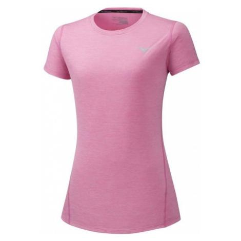 Mizuno IMPULSE CORE TEE pink - Women's functional short sleeve T-shirt