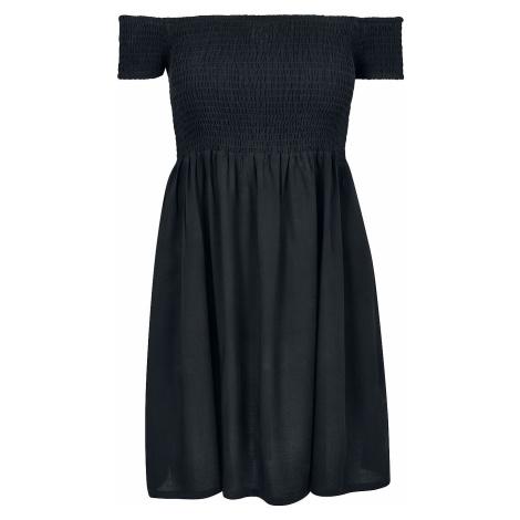 Urban Classics Ladies Smoked Off Shoulder Dress Short dress black